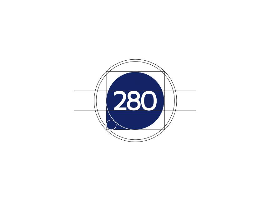 Projeto logotipo 280 Asset Management de São Paulo