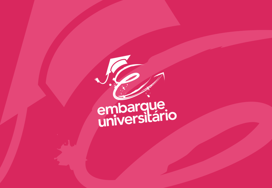 criação de logotipo embarque universitário agencia de viagens