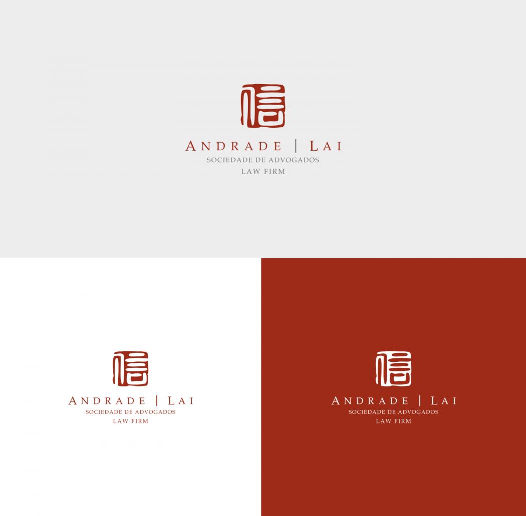 logotipos versões positiva e negativa andrade e lai