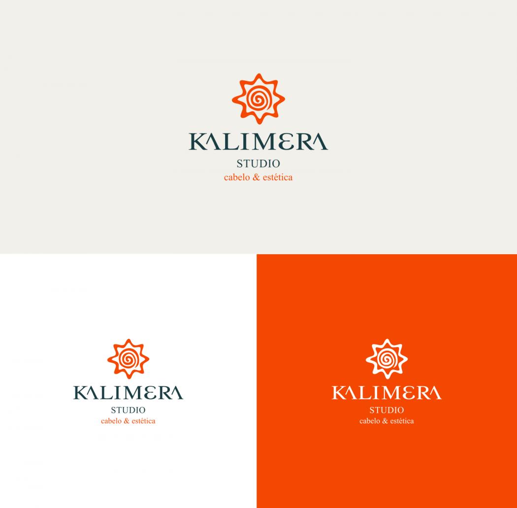 logotipo salão de beleza kalimera