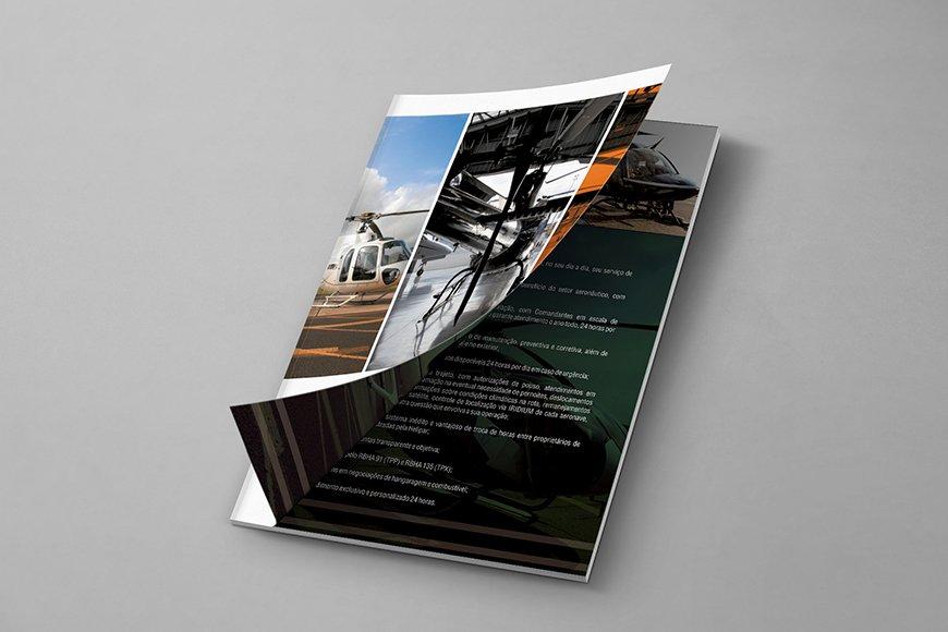 criação de folder e identidade visual para empresa de transporte e logística aérea