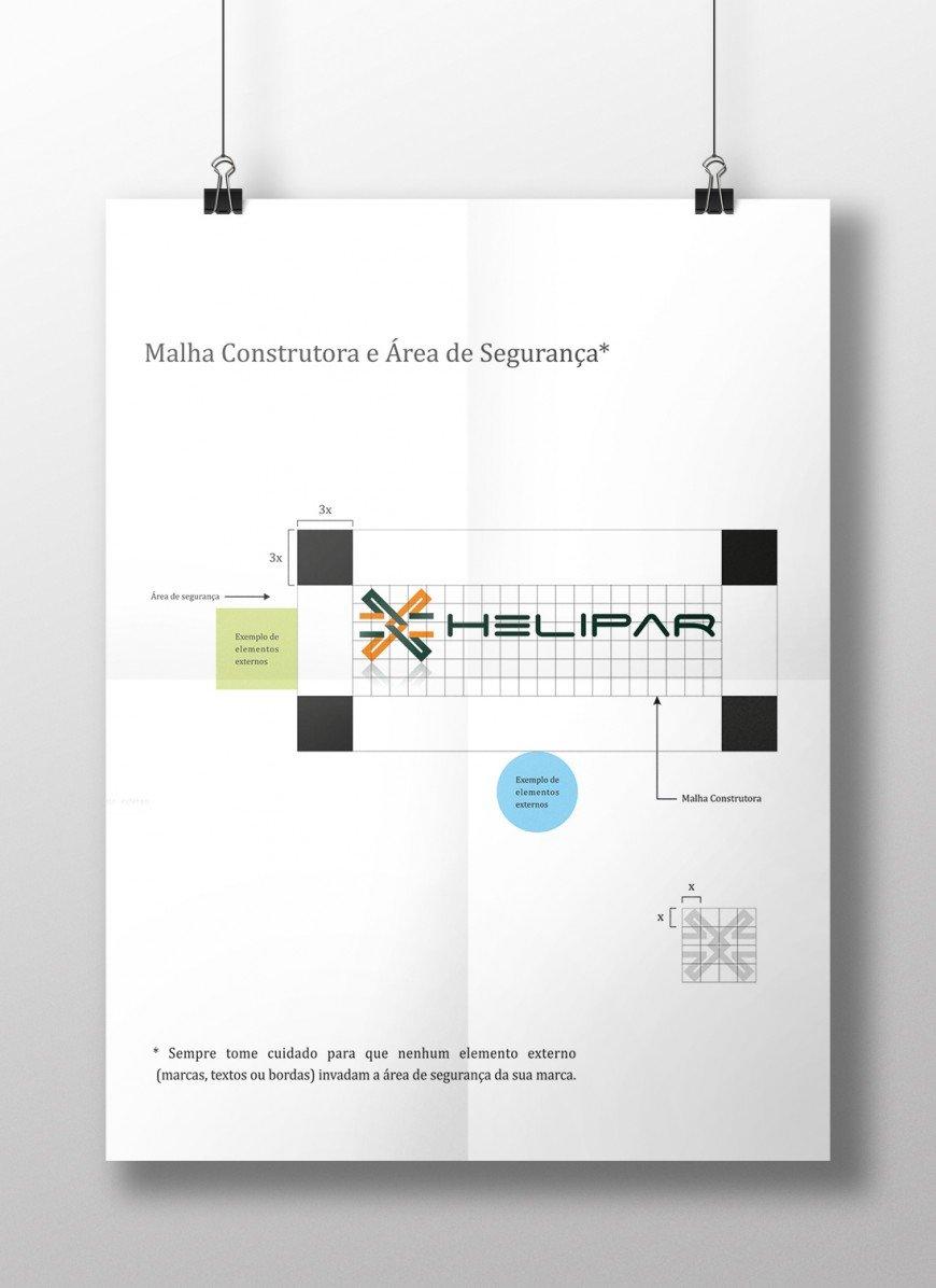 criação de manual de uso da marca, identidade visual e logotipo para empresa de aeronaves e helicópteros