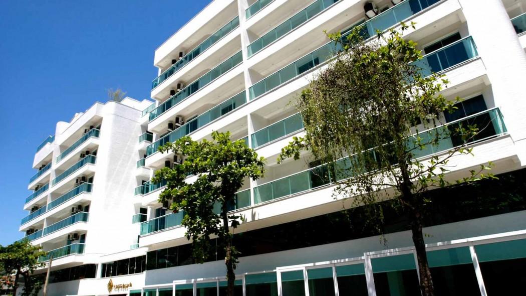 Identidade visual para hotel, Angra Beach Hotel, fachada do Hotel
