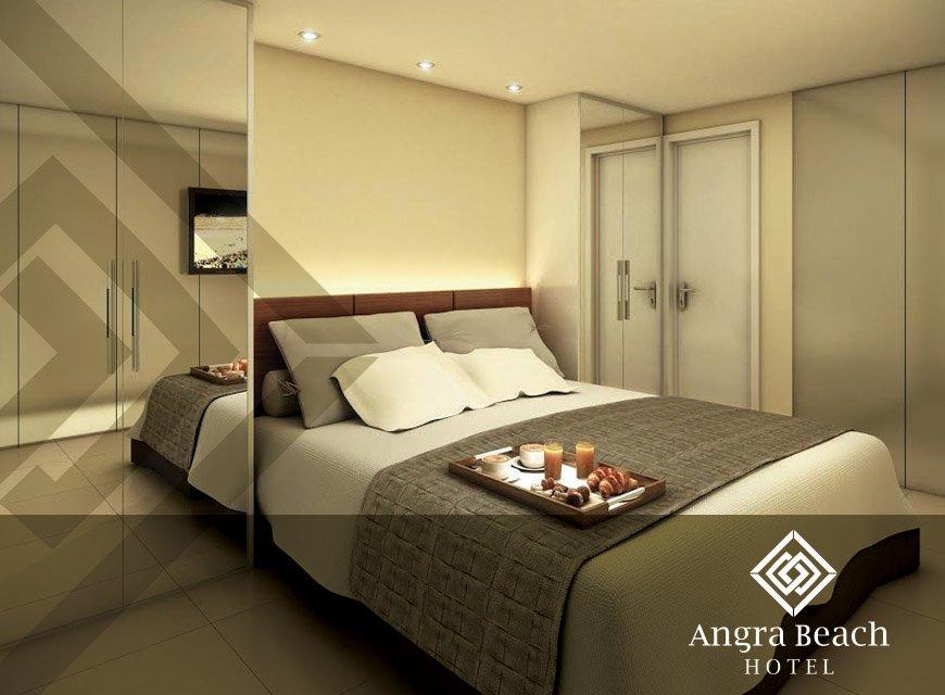 Identidade Visual para Hotel e aplicação de logotipo em imagem conceito Angra Beach hotel no RJ
