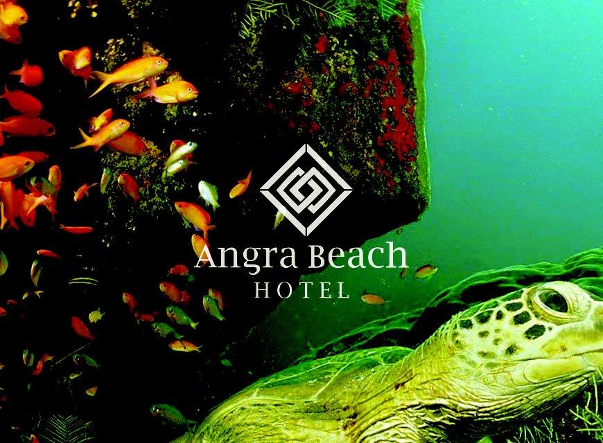 Criação de Identidade Visual para Hotel e imagem conceitual da marca Angra Beach Hotel logotipo