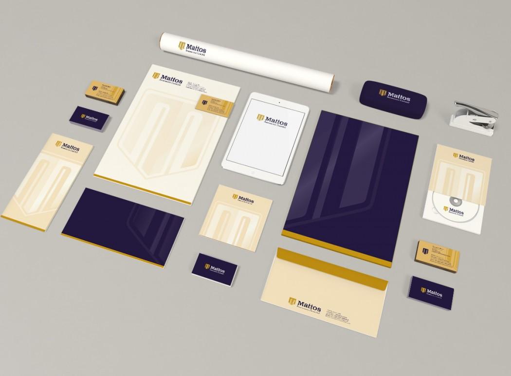 identidade visual para escritório de contabilidade mattos