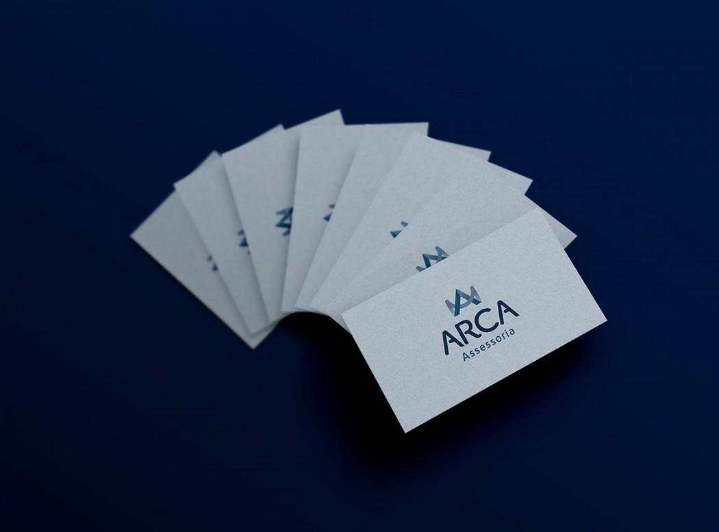 criação de cartão de visita consultoria arca